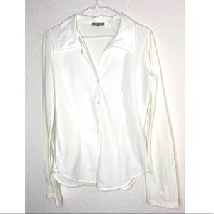 James Perse Size 3 Large White Shirt
